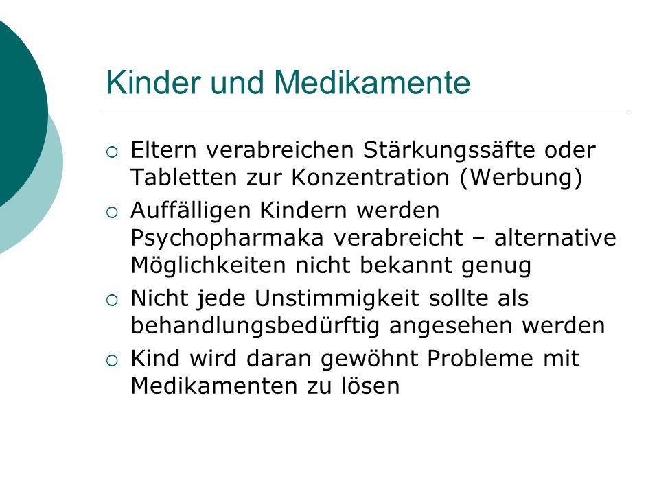 Kinder und Medikamente