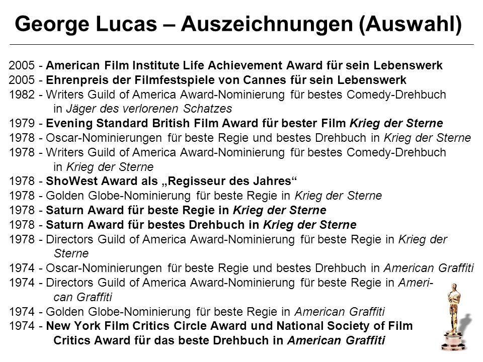 George Lucas – Auszeichnungen (Auswahl)