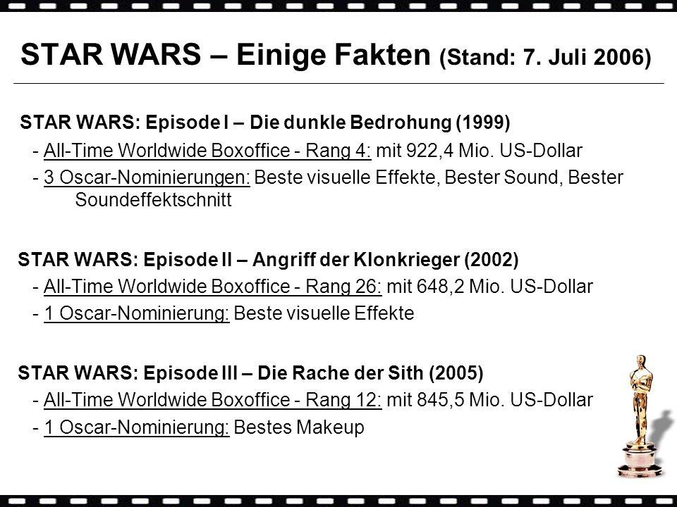 STAR WARS – Einige Fakten (Stand: 7. Juli 2006)