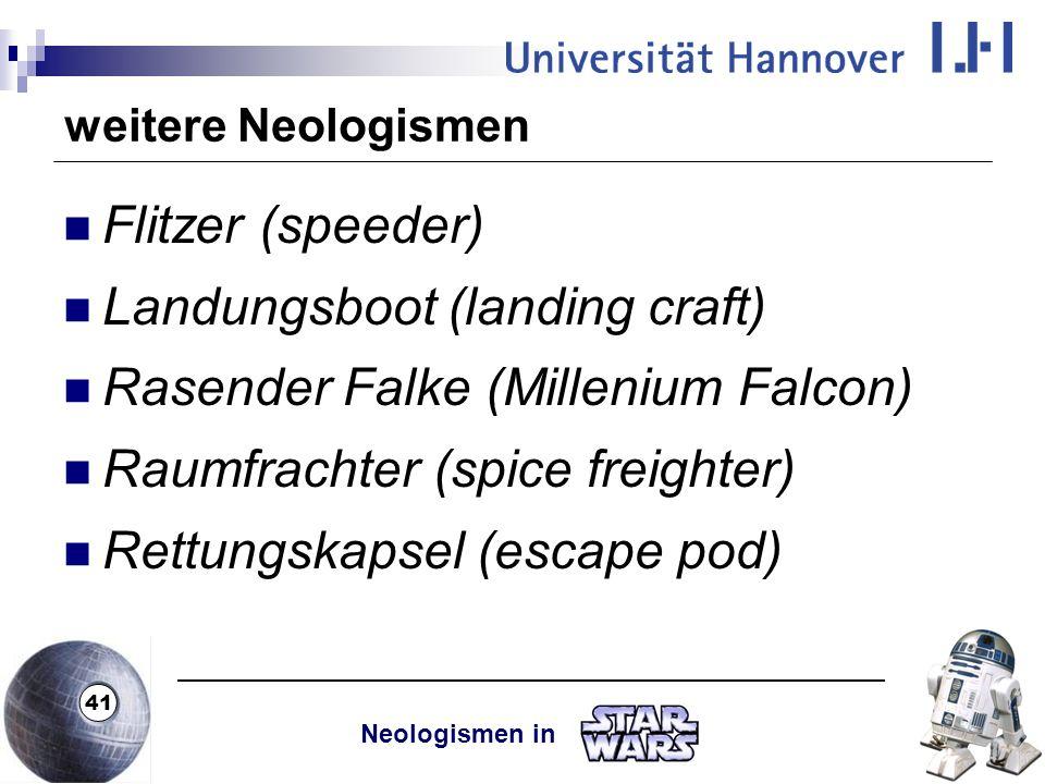 Landungsboot (landing craft) Rasender Falke (Millenium Falcon)