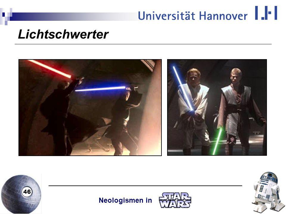 Lichtschwerter Neologismen in