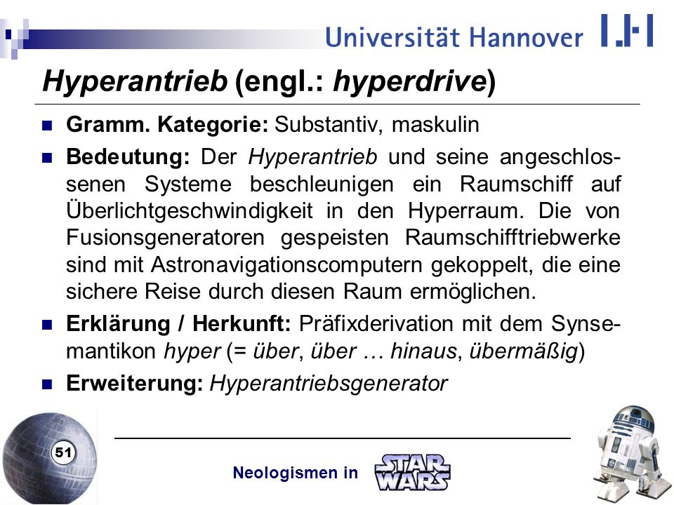 Hyperantrieb (engl.: hyperdrive)