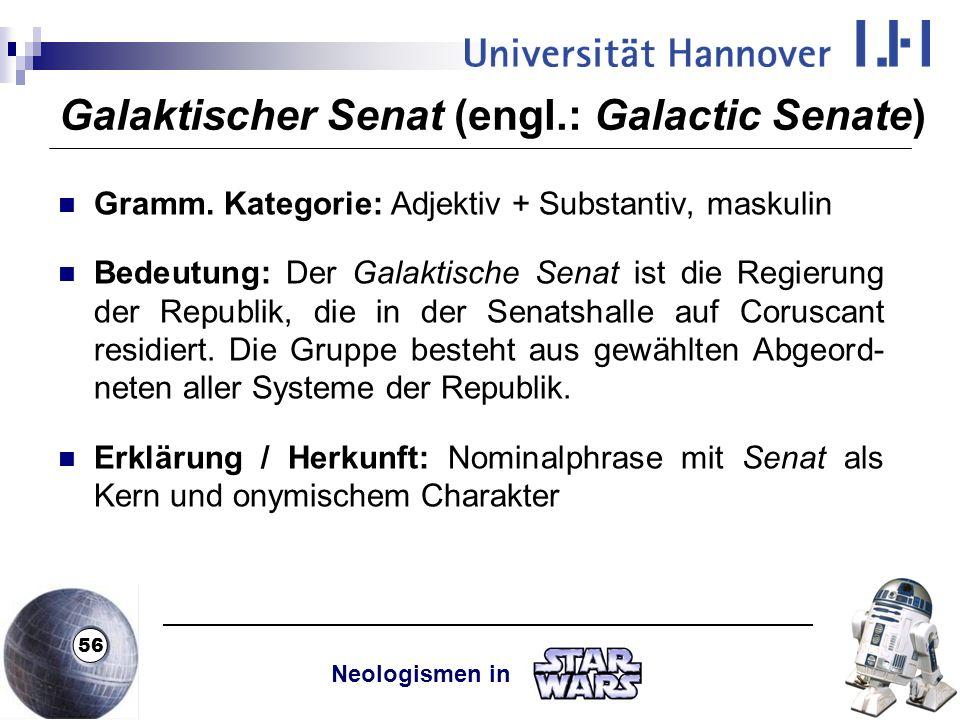 Galaktischer Senat (engl.: Galactic Senate)