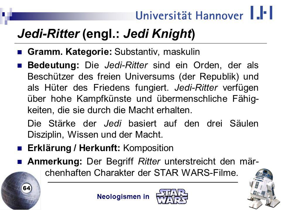 Jedi-Ritter (engl.: Jedi Knight)