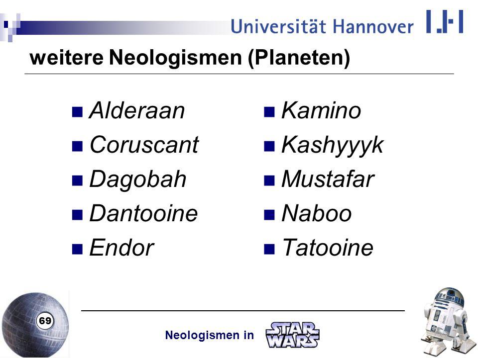 weitere Neologismen (Planeten)