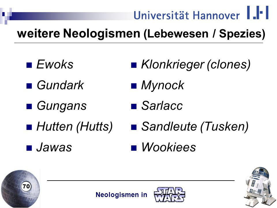 weitere Neologismen (Lebewesen / Spezies)