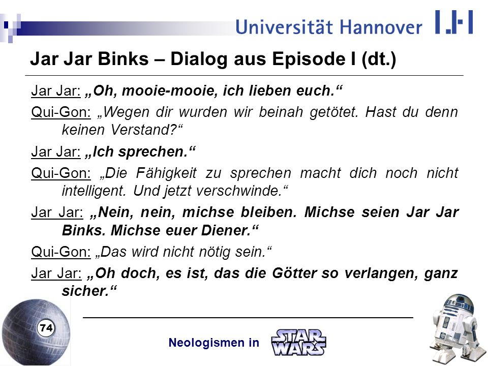 Jar Jar Binks – Dialog aus Episode I (dt.)