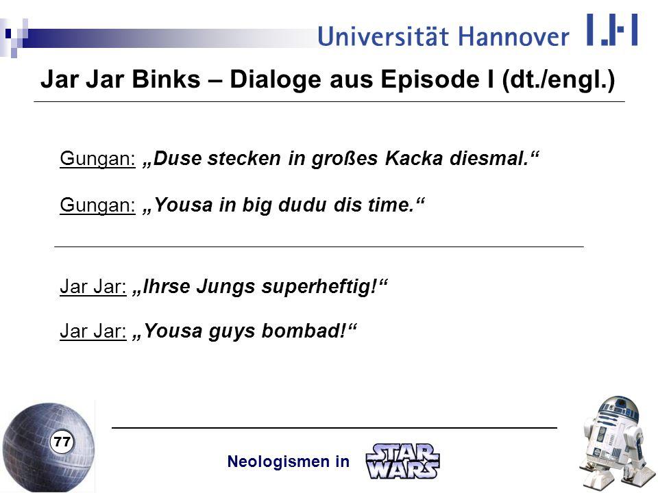 Jar Jar Binks – Dialoge aus Episode I (dt./engl.)