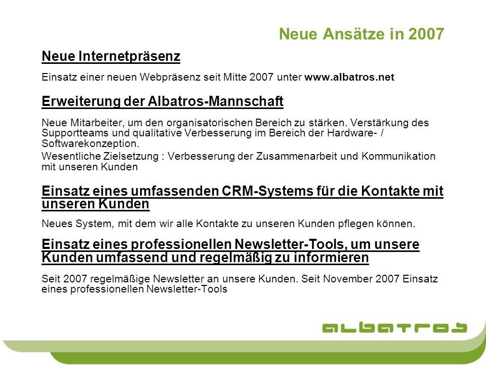 Neue Ansätze in 2007 Neue Internetpräsenz