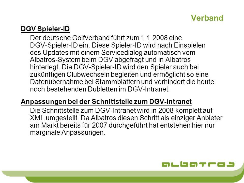 Verband DGV Spieler-ID