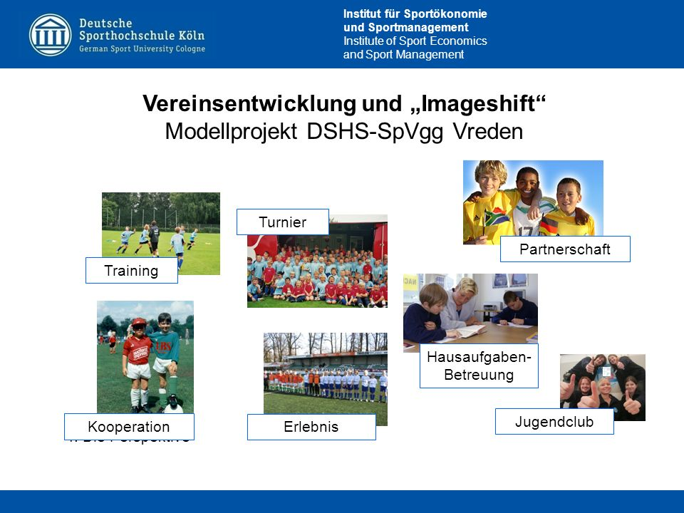 """Vereinsentwicklung und """"Imageshift"""