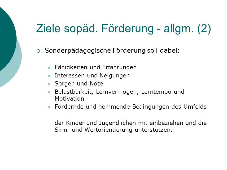 Ziele sopäd. Förderung - allgm. (2)