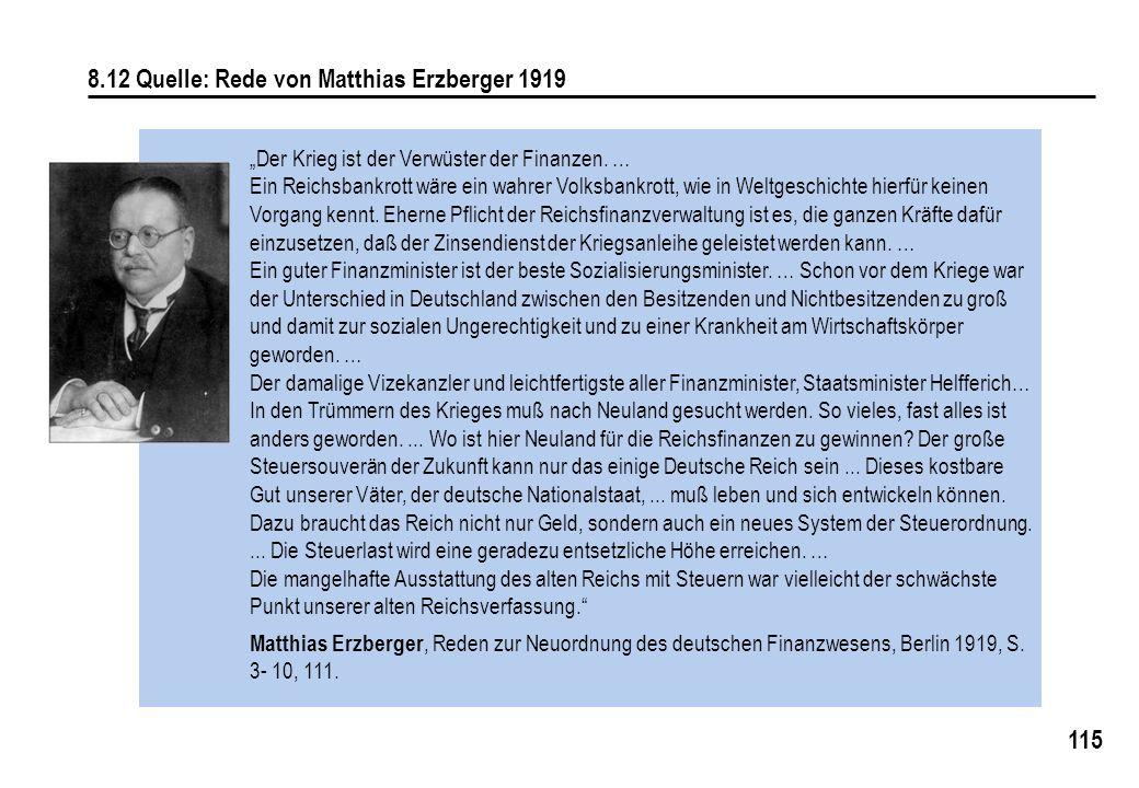 8.12 Quelle: Rede von Matthias Erzberger 1919