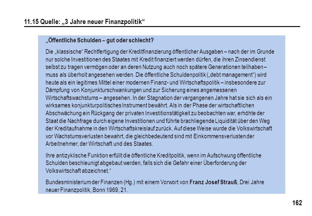 """11.15 Quelle: """"3 Jahre neuer Finanzpolitik"""