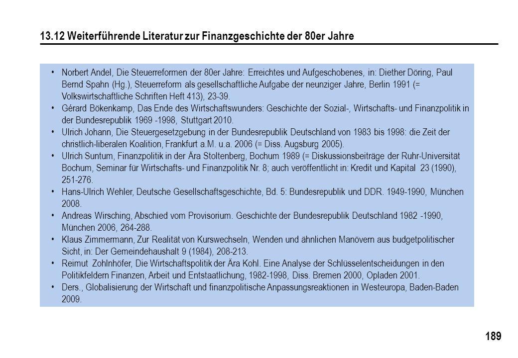 13.12 Weiterführende Literatur zur Finanzgeschichte der 80er Jahre