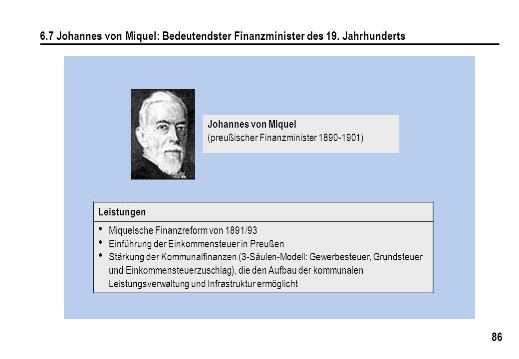 6. 7 Johannes von Miquel: Bedeutendster Finanzminister des 19