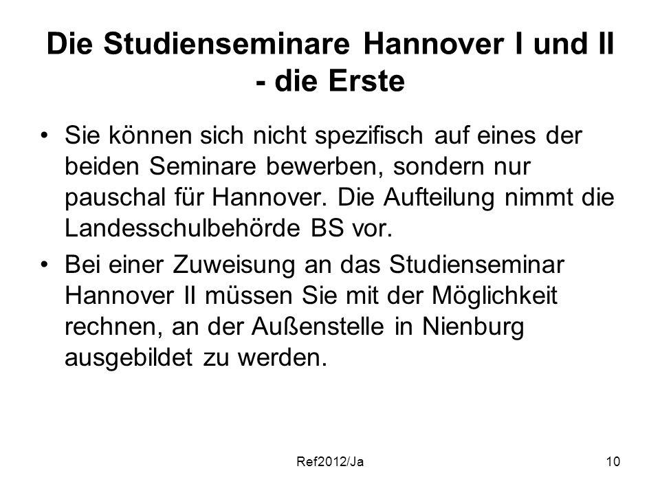 Die Studienseminare Hannover I und II - die Erste