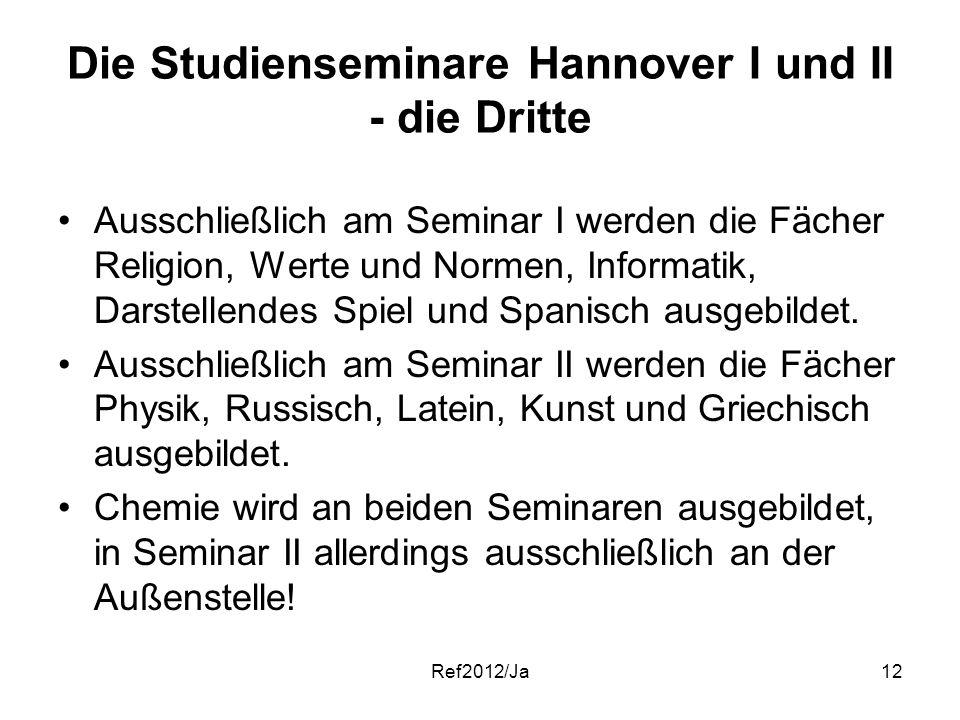 Die Studienseminare Hannover I und II - die Dritte