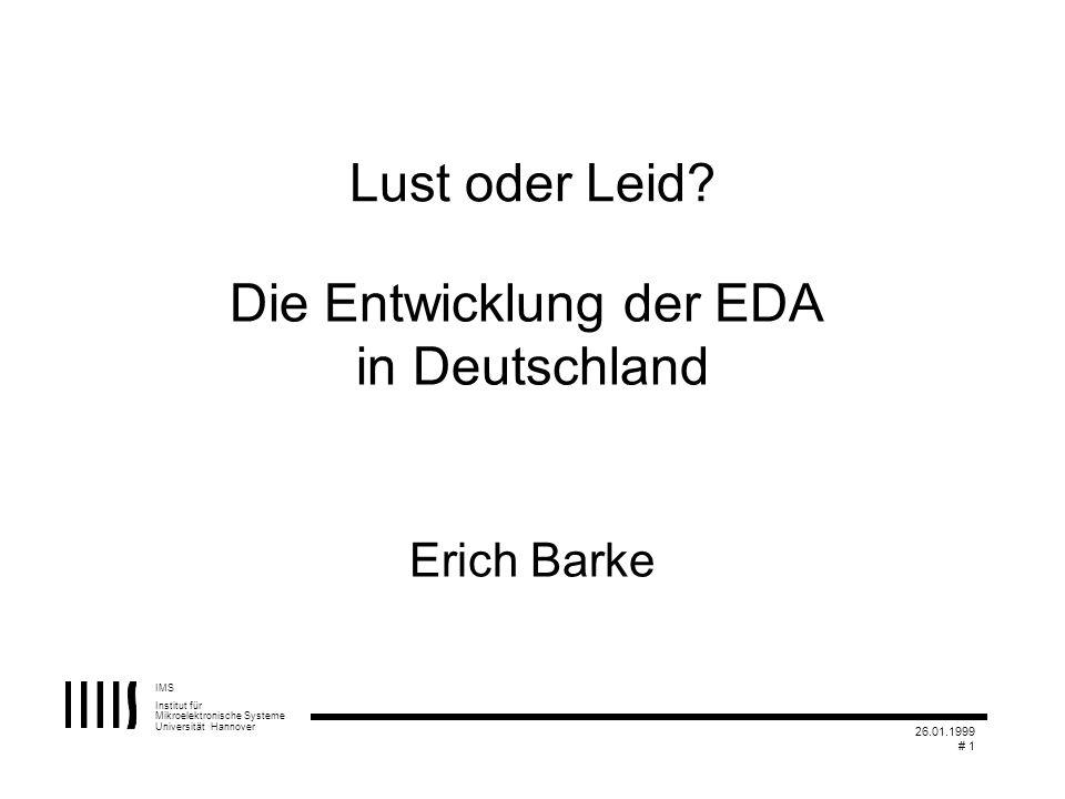 Die Entwicklung der EDA in Deutschland