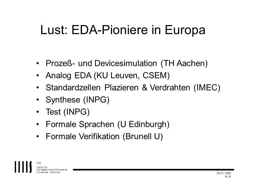Lust: EDA-Pioniere in Europa