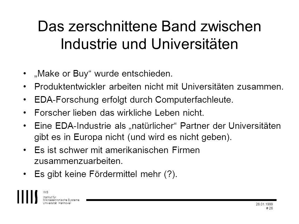 Das zerschnittene Band zwischen Industrie und Universitäten