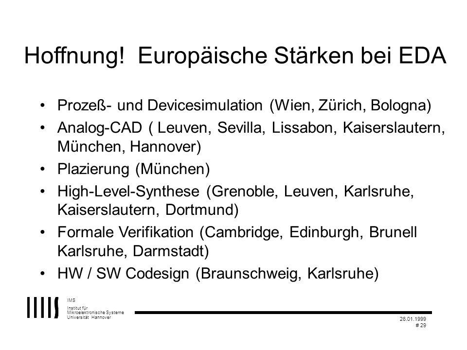 Hoffnung! Europäische Stärken bei EDA