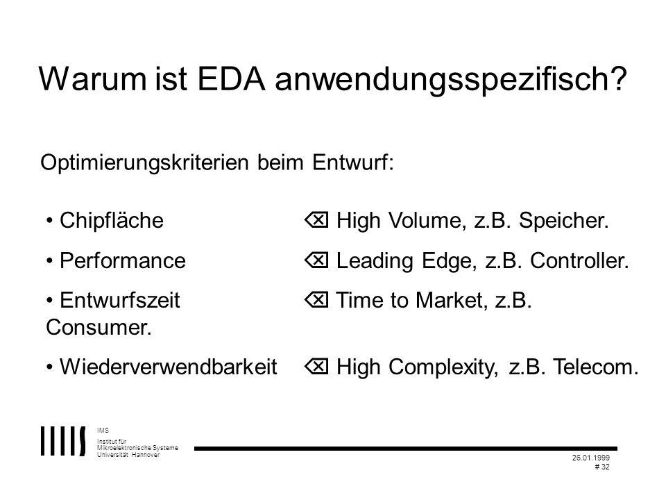 Warum ist EDA anwendungsspezifisch