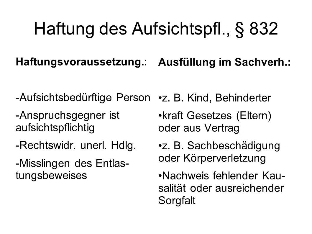 Haftung des Aufsichtspfl., § 832