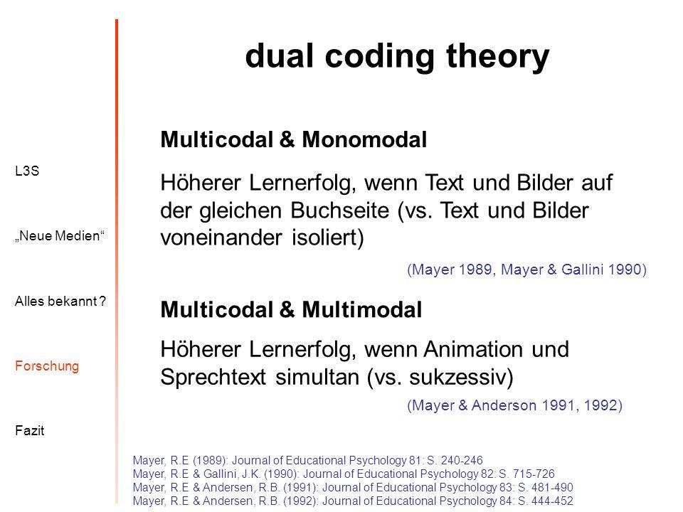 dual coding theory Multicodal & Monomodal