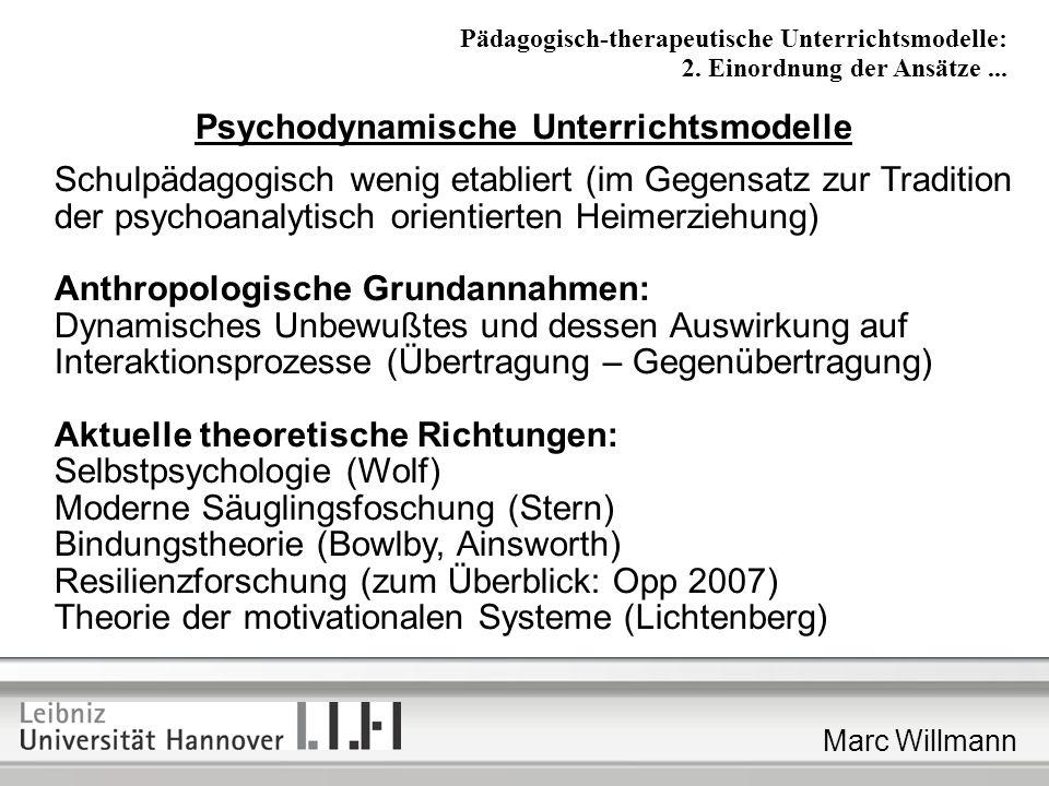 Psychodynamische Unterrichtsmodelle