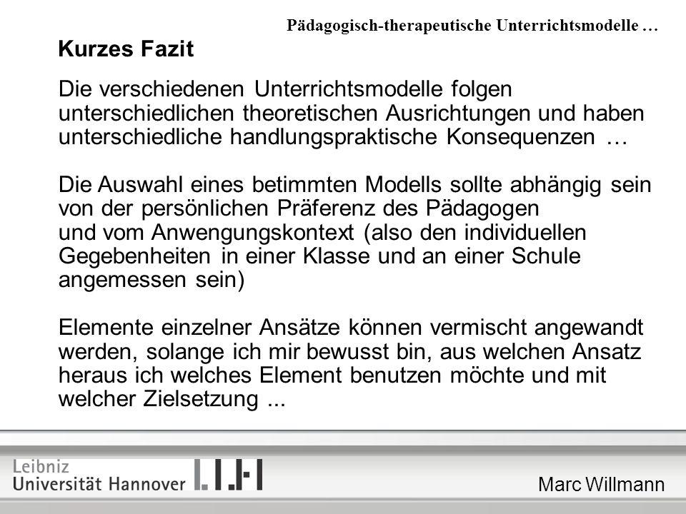 Die Auswahl eines betimmten Modells sollte abhängig sein