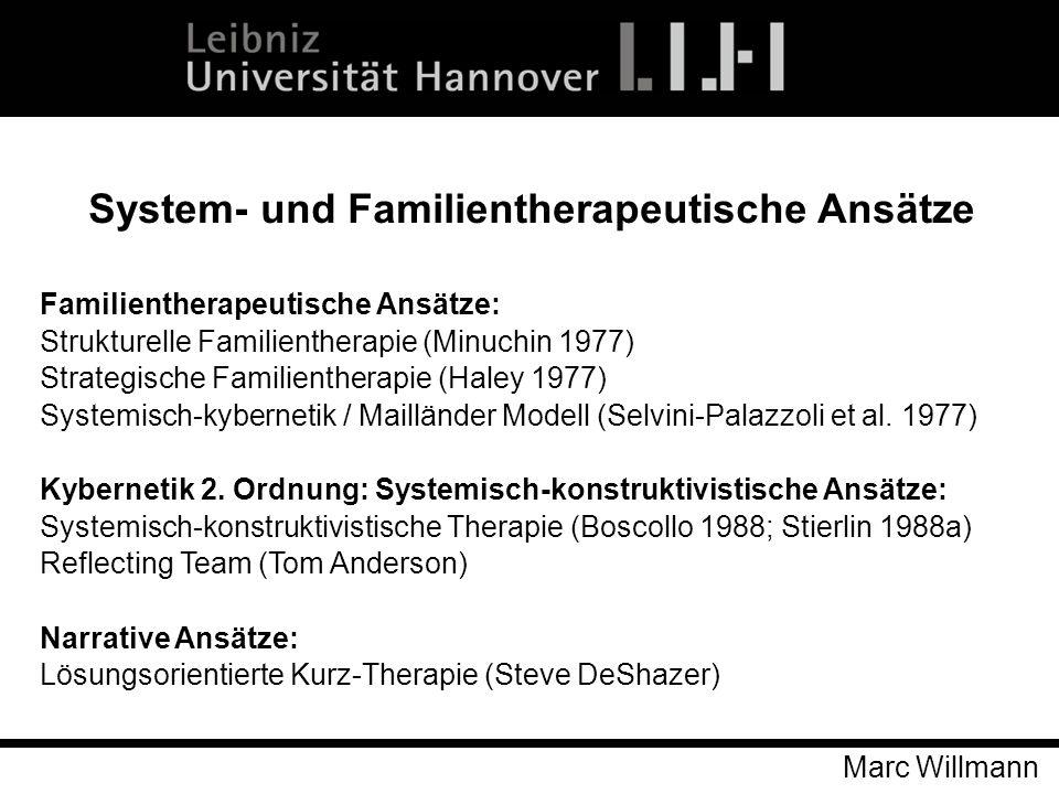 System- und Familientherapeutische Ansätze