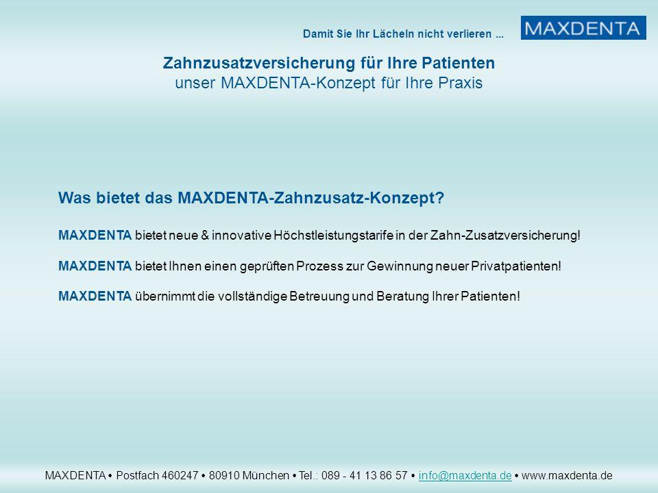 Was bietet das MAXDENTA-Zahnzusatz-Konzept