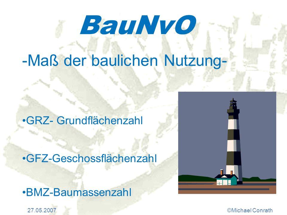 BauNvO -Maß der baulichen Nutzung- GRZ- Grundflächenzahl