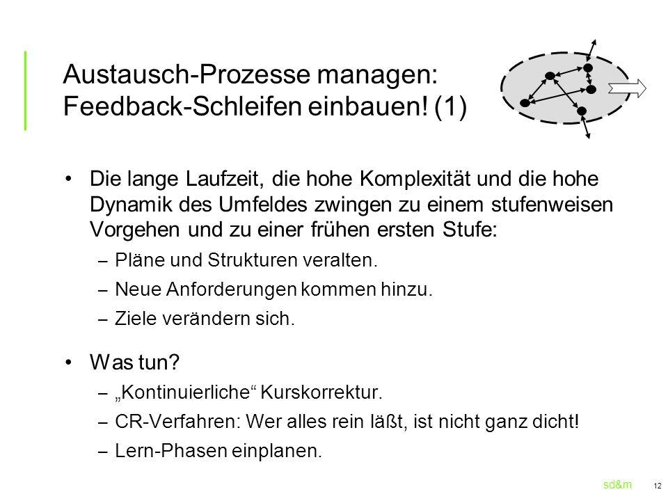Austausch-Prozesse managen: Feedback-Schleifen einbauen! (1)