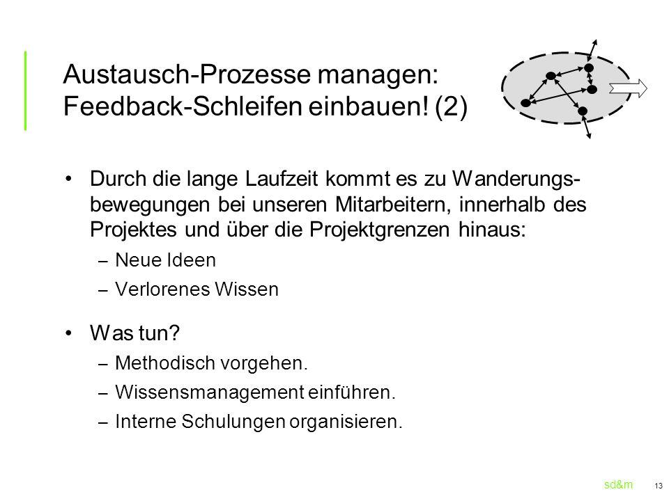 Austausch-Prozesse managen: Feedback-Schleifen einbauen! (2)