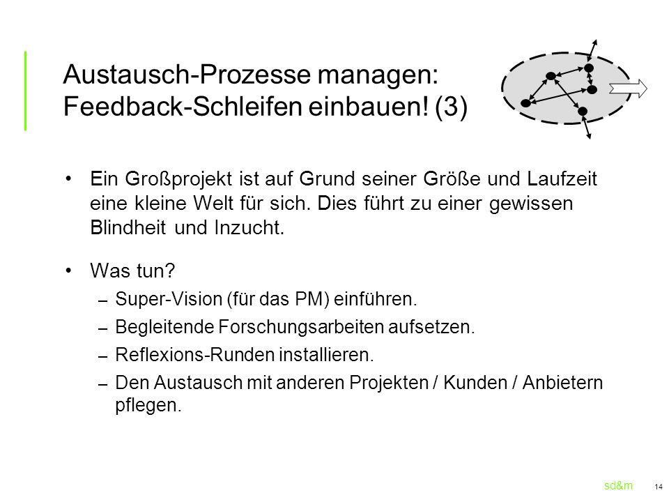 Austausch-Prozesse managen: Feedback-Schleifen einbauen! (3)