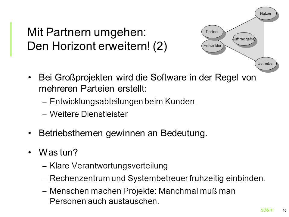 Mit Partnern umgehen: Den Horizont erweitern! (2)