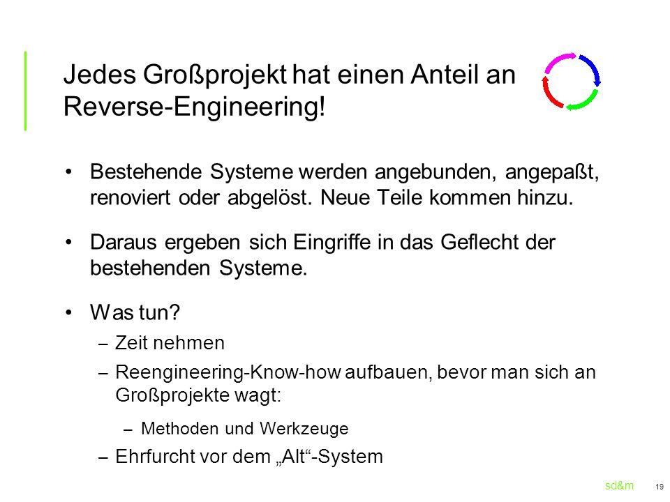 Jedes Großprojekt hat einen Anteil an Reverse-Engineering!
