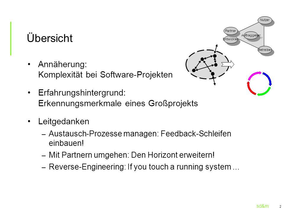 Übersicht Annäherung: Komplexität bei Software-Projekten