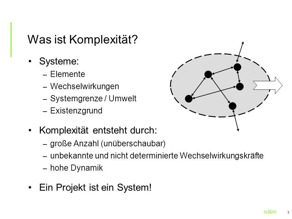 Was ist Komplexität Systeme: Komplexität entsteht durch: