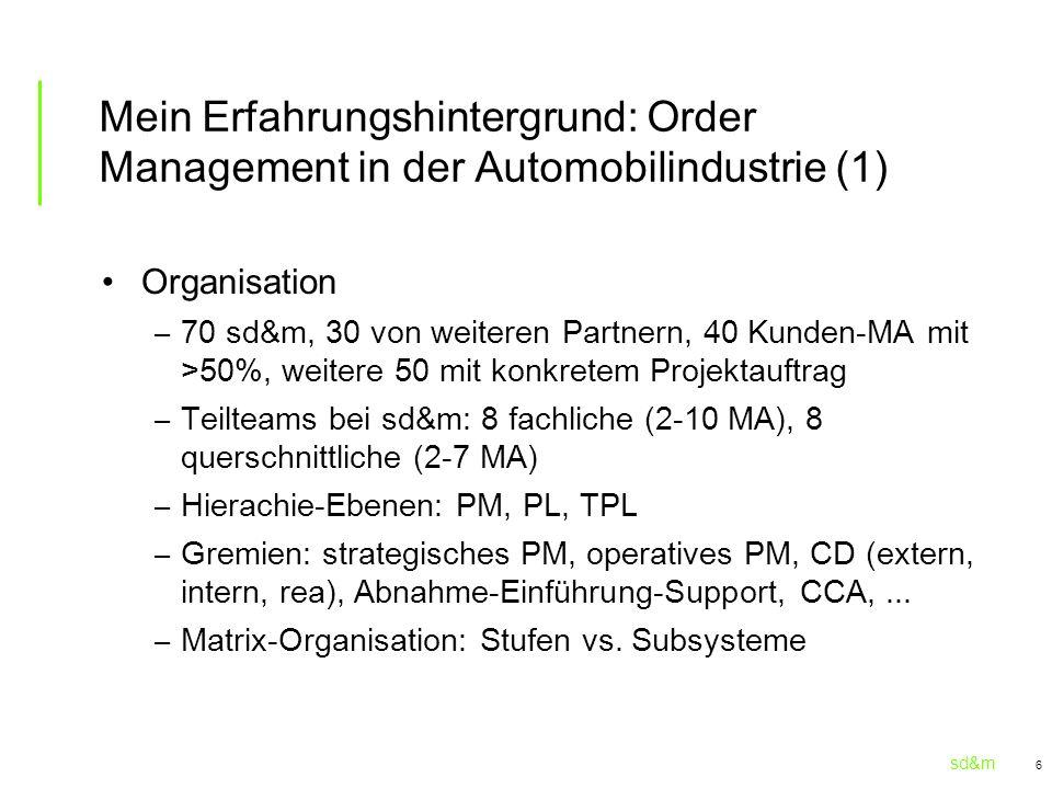Mein Erfahrungshintergrund: Order Management in der Automobilindustrie (1)