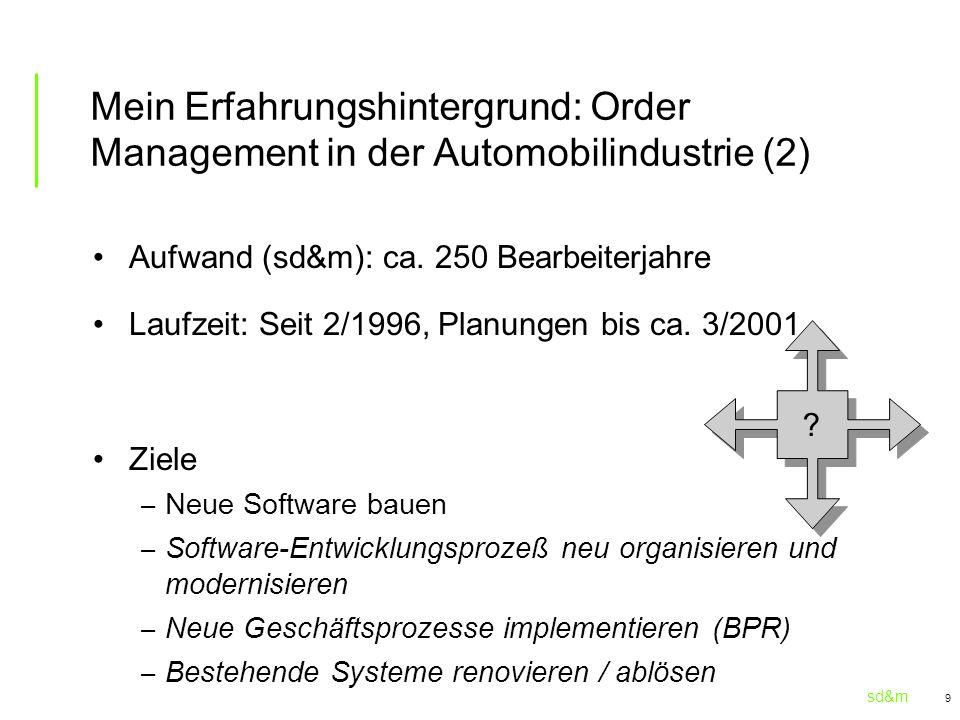 Mein Erfahrungshintergrund: Order Management in der Automobilindustrie (2)