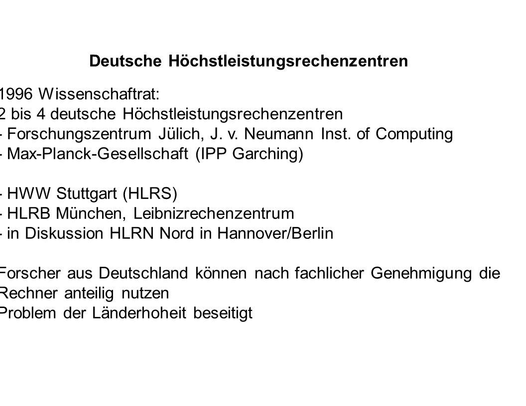 Deutsche Höchstleistungsrechenzentren