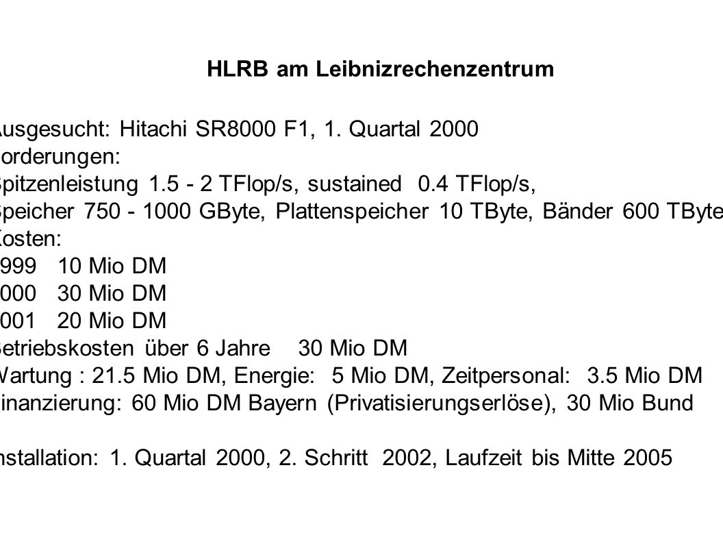 HLRB am Leibnizrechenzentrum