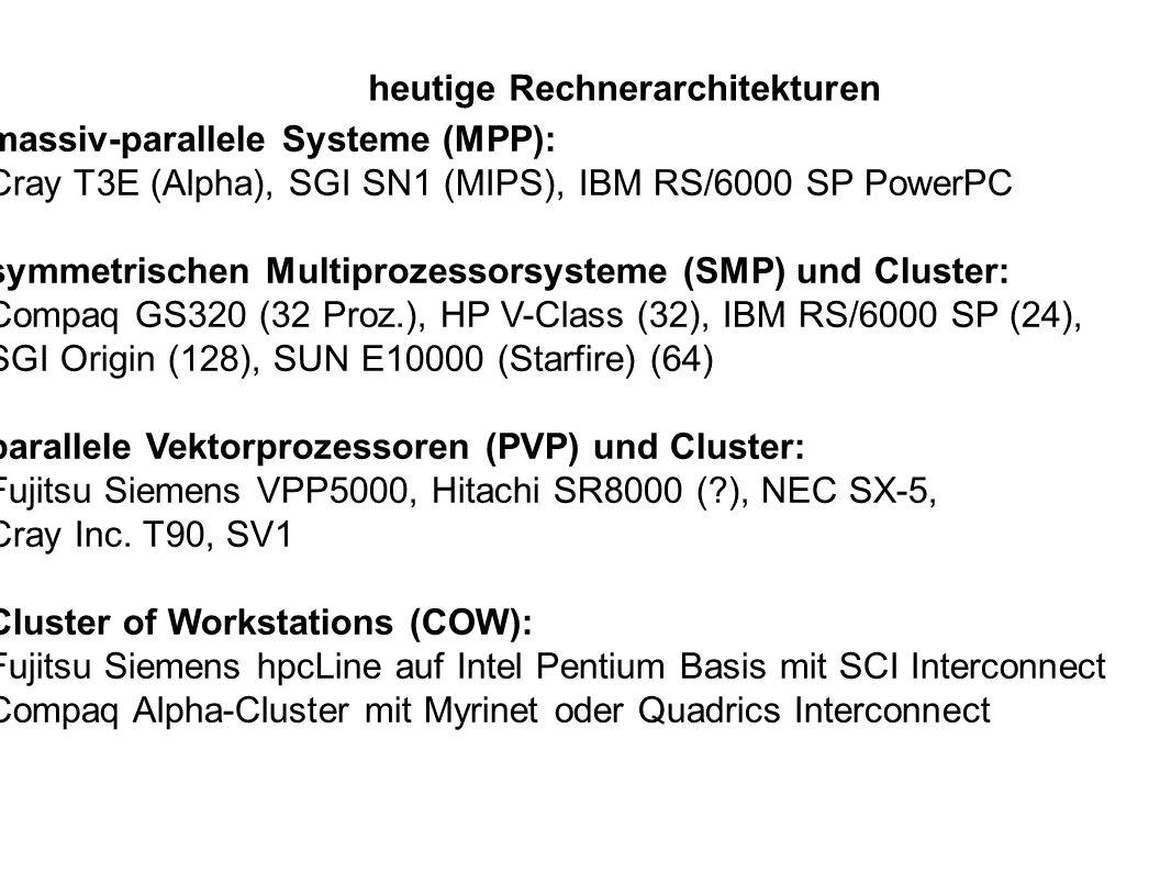 heutige Rechnerarchitekturen