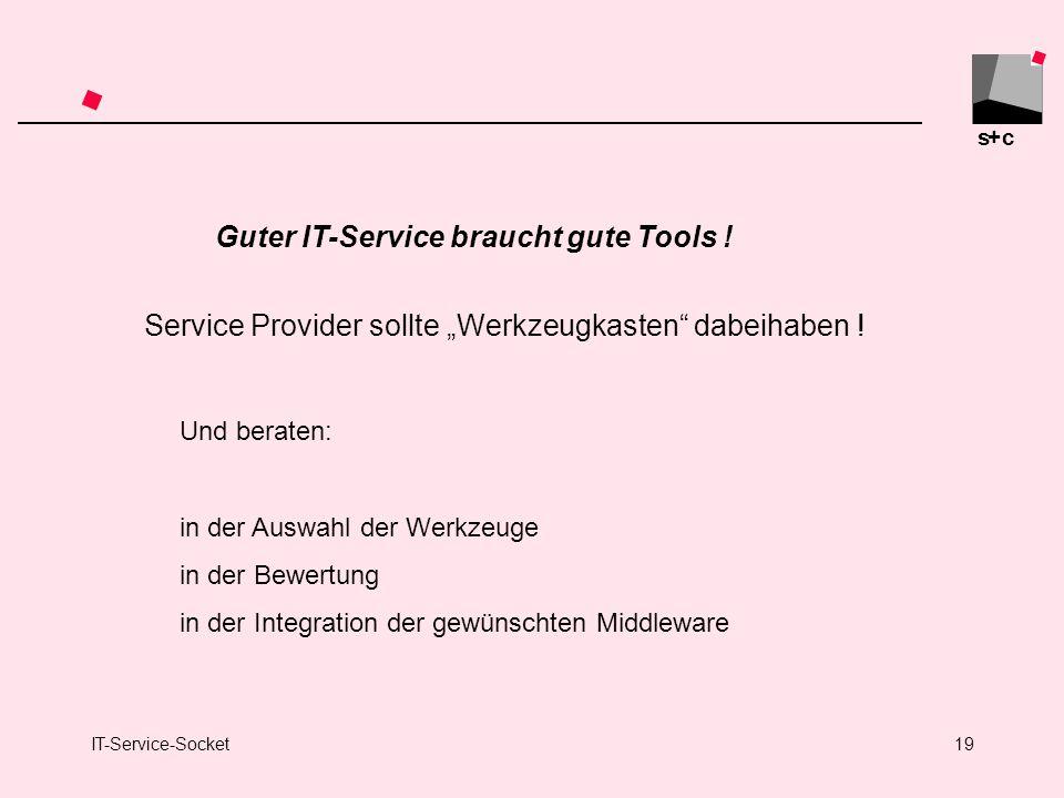 Guter IT-Service braucht gute Tools !