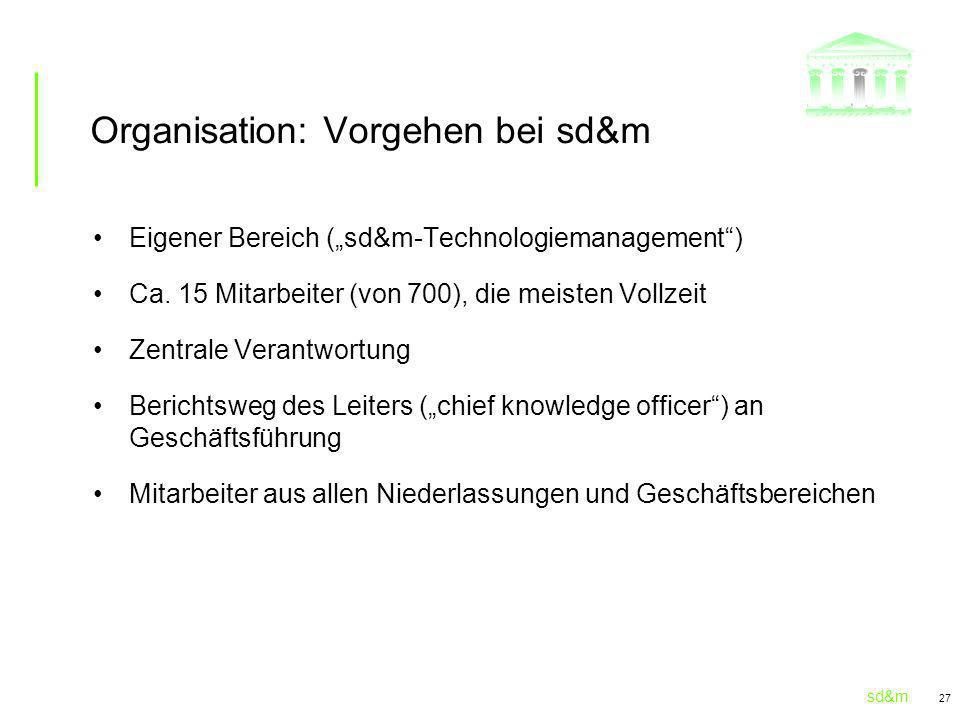 Organisation: Vorgehen bei sd&m