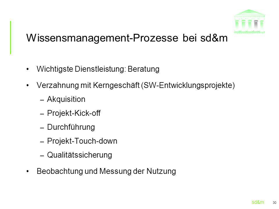 Wissensmanagement-Prozesse bei sd&m