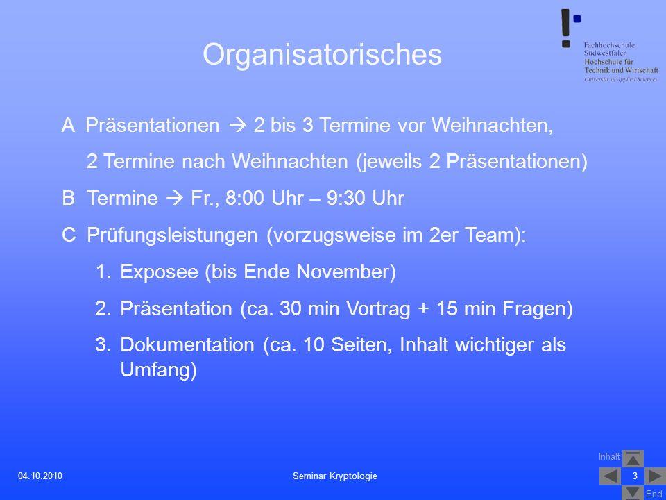Organisatorisches A Präsentationen  2 bis 3 Termine vor Weihnachten,